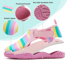 Load image into Gallery viewer, Kids Boys Girls Water Shoes rainbow pink - Komforme
