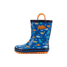 Load image into Gallery viewer, Kids Rain Boots for Boys Dinosaurs - Kkomforme