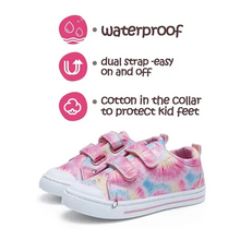 Load image into Gallery viewer, Toddler Girls Sneakers Kids Shoes Pink Flowers - Kkomforme