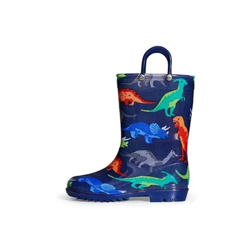 Boys Light Rain Boots Dinosaur Kids Shoes - KKOMFORME