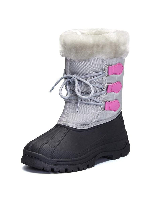 Kids Snow Boots for Boys & Girls Winter Boots Gray - KKOMFORME - KKOMFORME SHOE