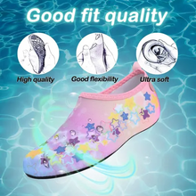 Load image into Gallery viewer, Boys and Girls Beach Water Shoes pink star -Kkomforme