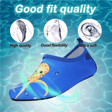 Load image into Gallery viewer, Boys and Girls Beach Water Shoes Yellow Octopus - Kkomforme