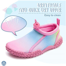 Load image into Gallery viewer, Kids Beach Water Shoes Non-Slip Quick Dry Gradient Pink -- K komforme