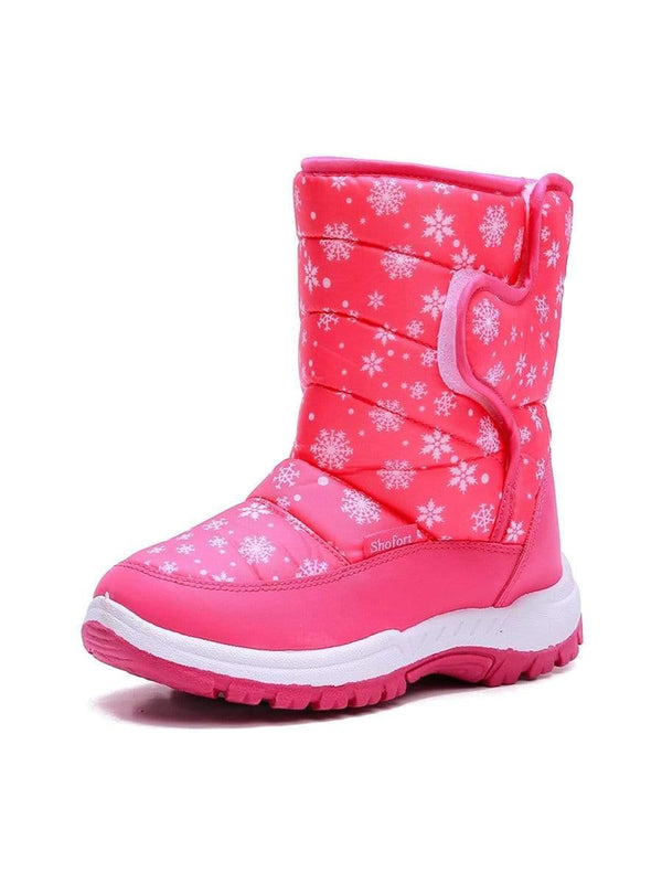 Kids Snow Boots for Boys & Girls Winter Boots Pink Snow - KKOMFORME - KKOMFORME SHOE