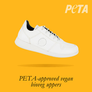 Load image into Gallery viewer, Finland Kids - Boys Lace-Up Trainer in White PETA-approved Vegan Bioveg Leather