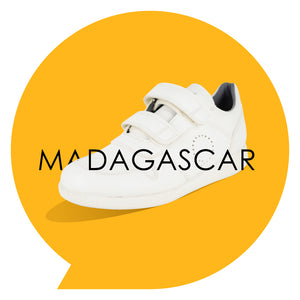 Load image into Gallery viewer, Madagascar Kids - Boys Velcro Trainer in White PETA-approved Vegan Bioveg Leather