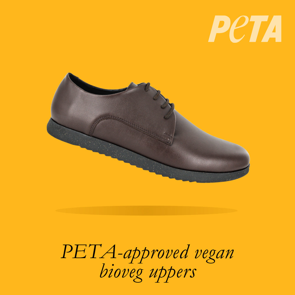 Load image into Gallery viewer, Oregon Youths - Boys Lace-Up in Brown PETA-approved Vegan Bioveg Leather