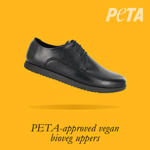 Load image into Gallery viewer, Oregon Youths - Boys Lace-Up in Black PETA-approved Vegan Bioveg Leather