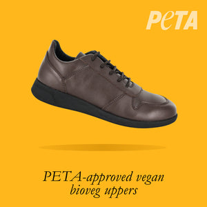Load image into Gallery viewer, Vancouver Kids - Boys Lace-Up Trainer in Brown PETA-approved Vegan Bioveg Leather