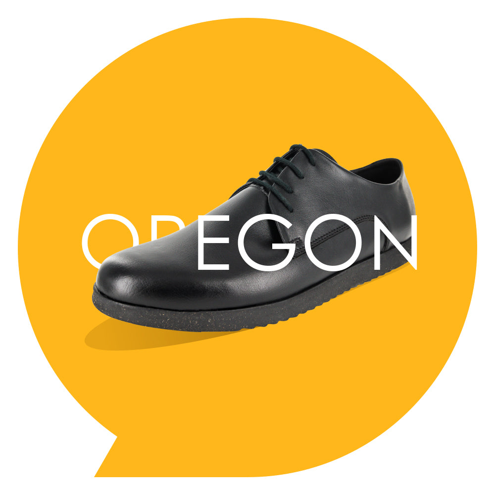 Oregon Youths - Boys Lace-Up in Black PETA-approved Vegan Bioveg Leather