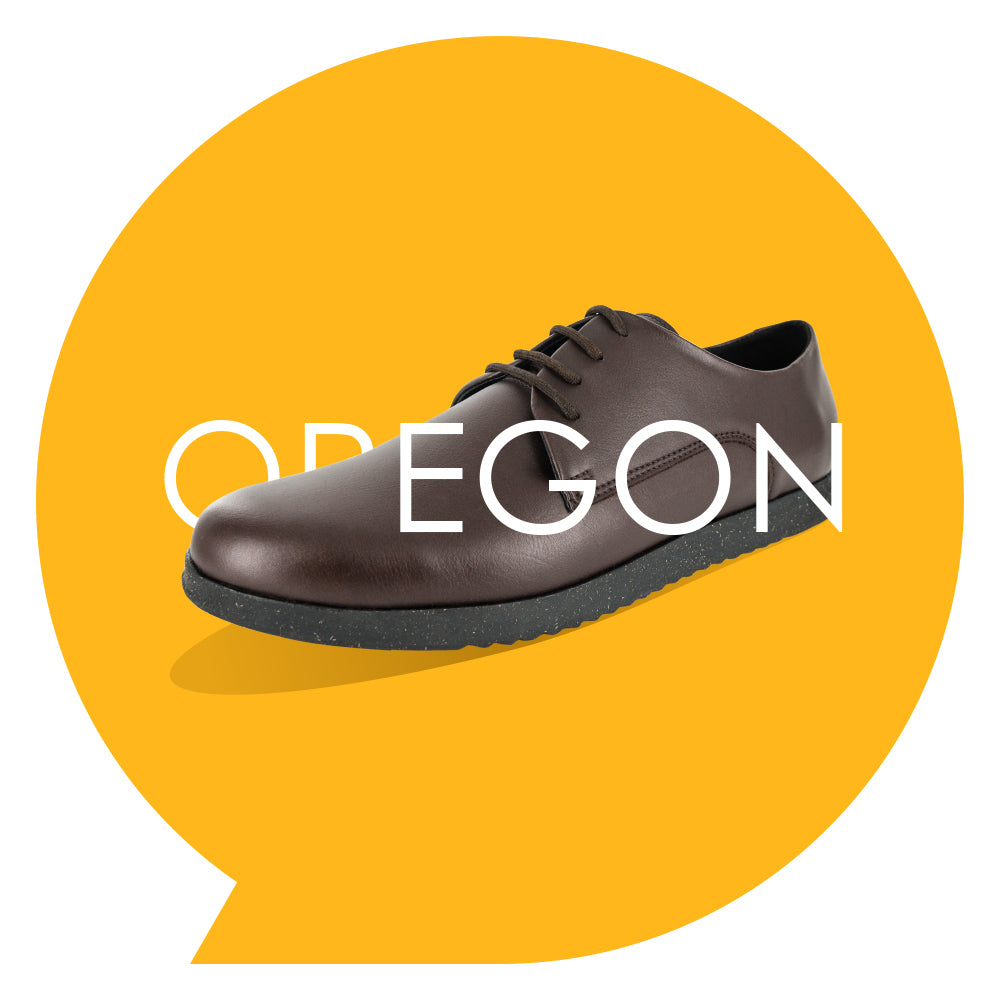 Oregon Youths - Boys Lace-Up in Brown PETA-approved Vegan Bioveg Leather