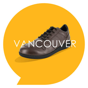 Load image into Gallery viewer, Vancouver Youths - Boys Lace-Up Trainer in Brown PETA-approved Vegan Bioveg Leather