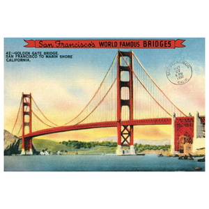 Cavallini Golden Gate Bridge Poster