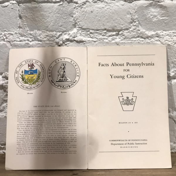 """Facts About Pennsylvania For Young Citizens"" (1955)"
