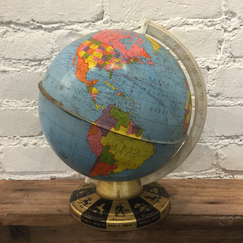 Ohio Art Metal Globe