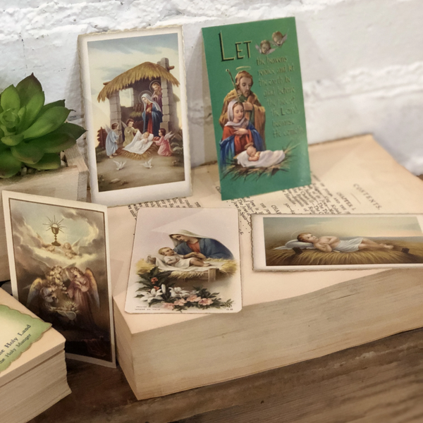 Vintage Christmas Themed Religious Ephemera