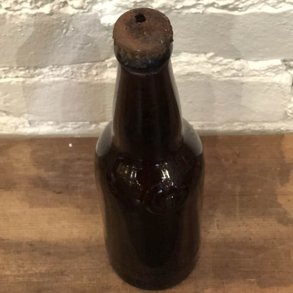 Vintage Schmidt & Sons Amber Glass Bottle