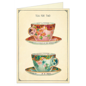 "Cavallini ""Tea For Two"" Greeting Card"