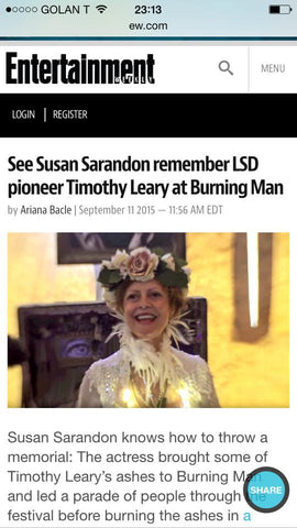 Entertainment Weekly, Susan Sarandon wearing our flower crown