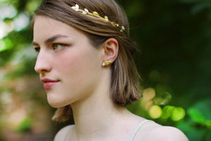 Bloom Field Crystals and Pearls Greek Goddess Headband