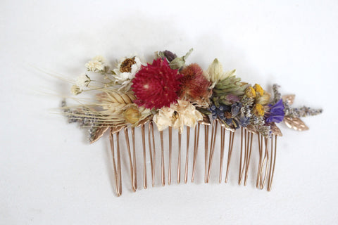 Dried Flowers Hair Comb