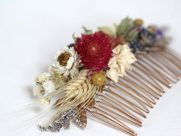 Sunshine Dried Flowers Hair Comb
