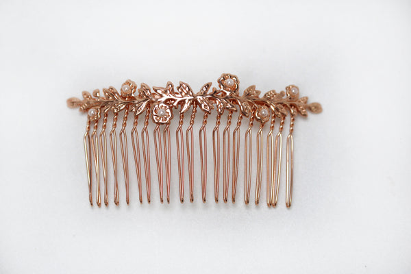 double blooming bouquet hair comb.