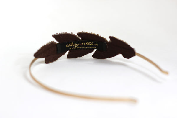 Beaded Leaf Headband