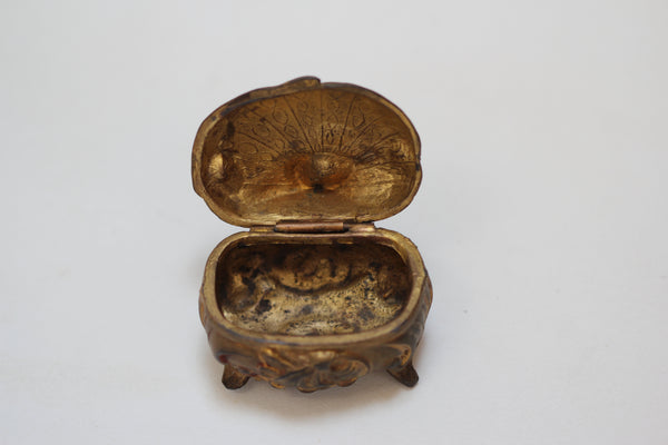 Antique Miniature Art Nouveau Jewelry Box