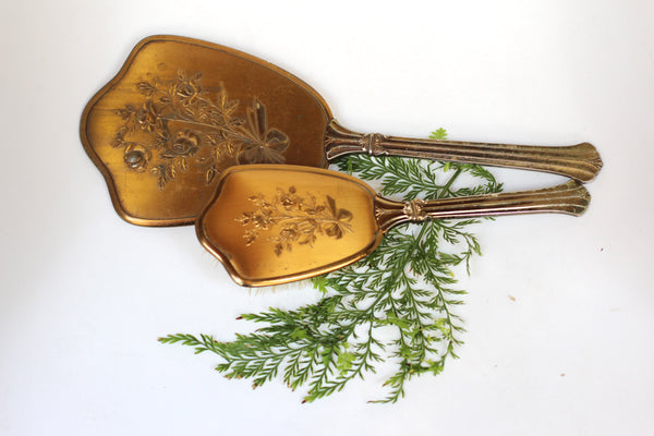 Antique Bronze Floral Vanity Set