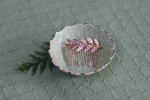 Antique Green Leaves Ring Bowl