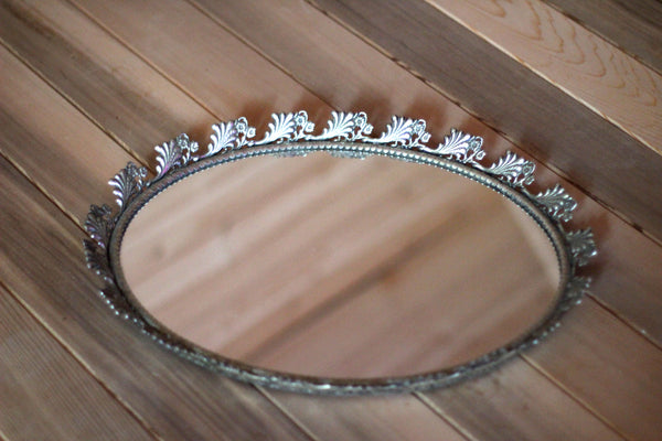 Sunflowers Antique Mirror Tray