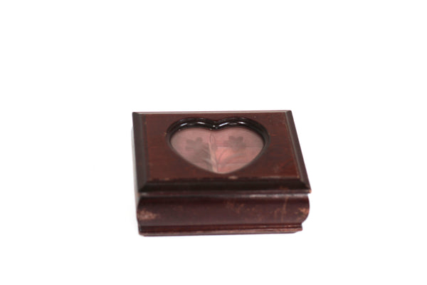 Heart Shaped Window Wood Jewelry Box