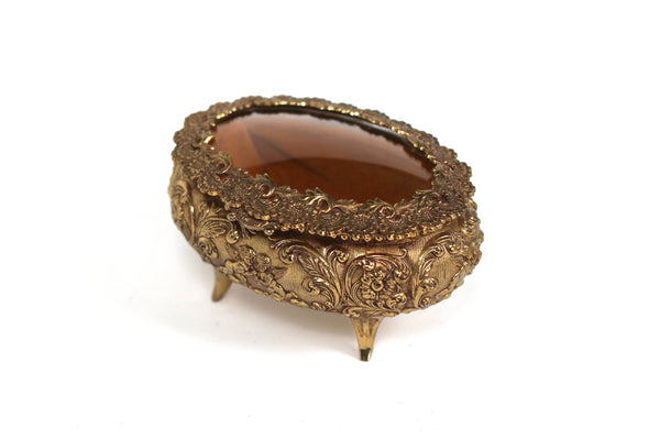 Antique Amber Jewelry Box