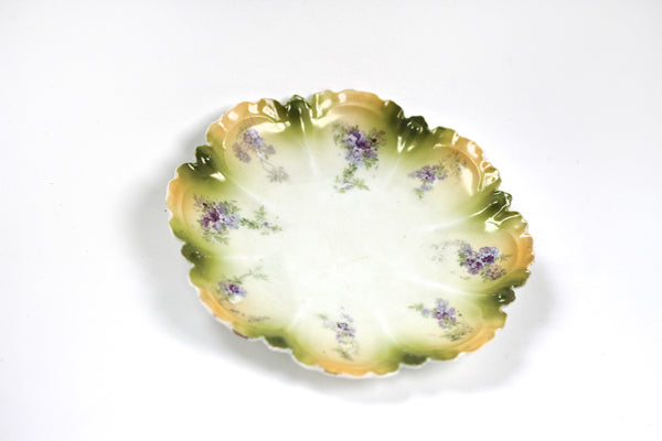 Purple Flowers Porcelain Dish