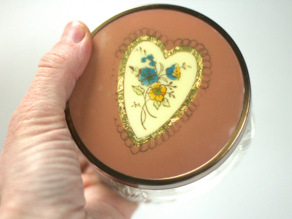 Antique Pink Heart Vanity Set