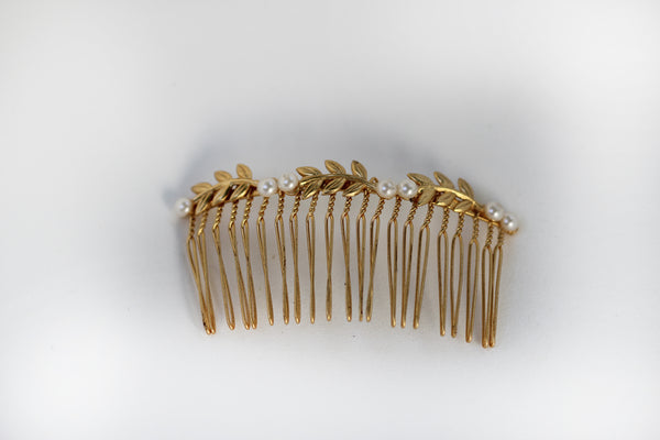 Six Stems Leaves Hair Comb