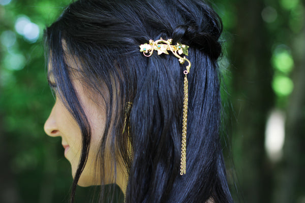 Ivy Chains Barrette