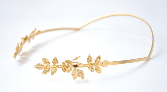 Rose Leaves Greek Goddess Crown