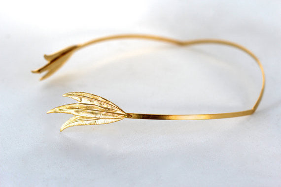 Triple Leaf Greek Goddess Headband