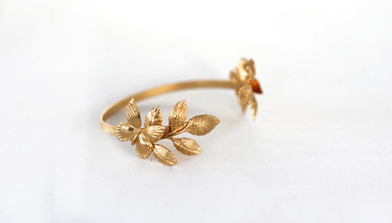 Butterflies & Leaves bracelet