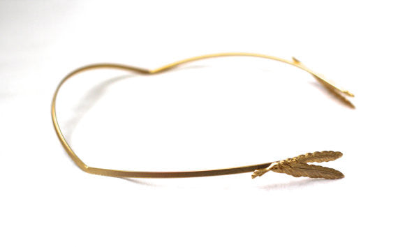 Small Double Feather Claw Goddess Headband