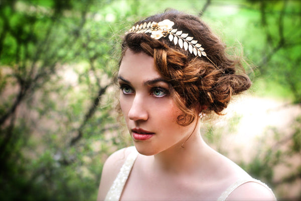 Two Rose Flexible Wire Headband.