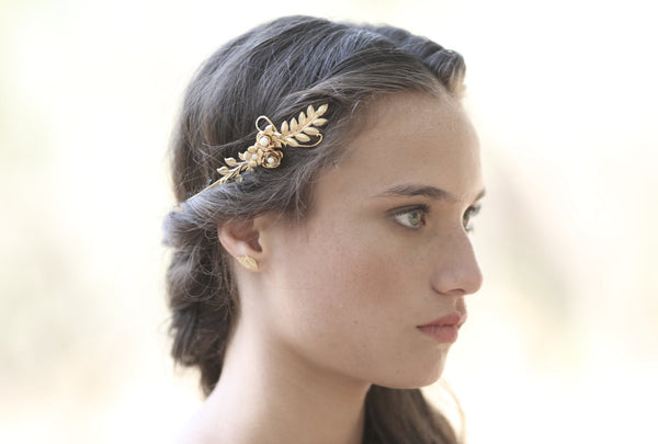 Amber Blooming Flower Goddess Headband