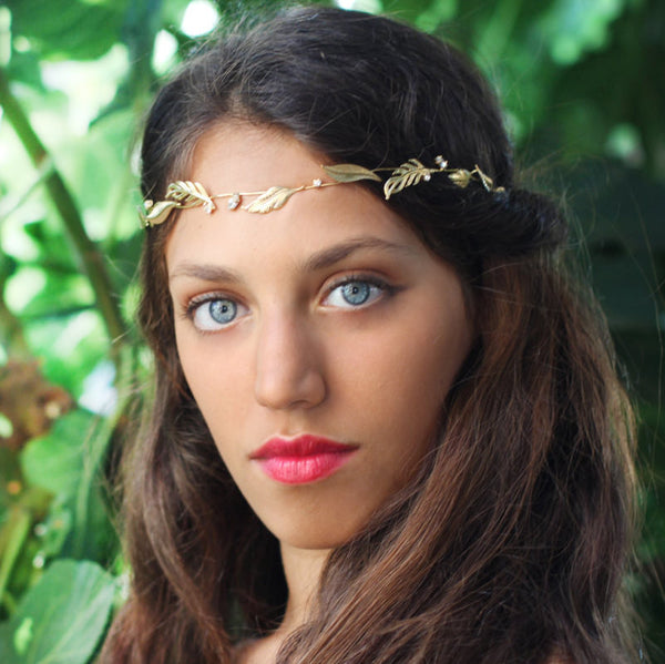 Crystal Leaf Headband
