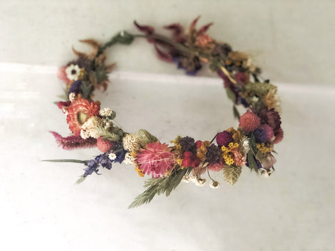 Dried Flowers Full Circlet