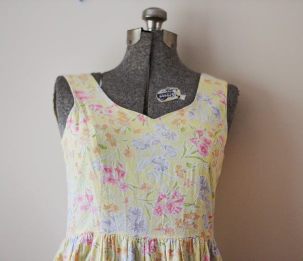 Yellow Floral Laura Ashley Summer Dress