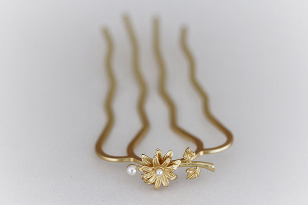 Blooming Daisy Hair Prong