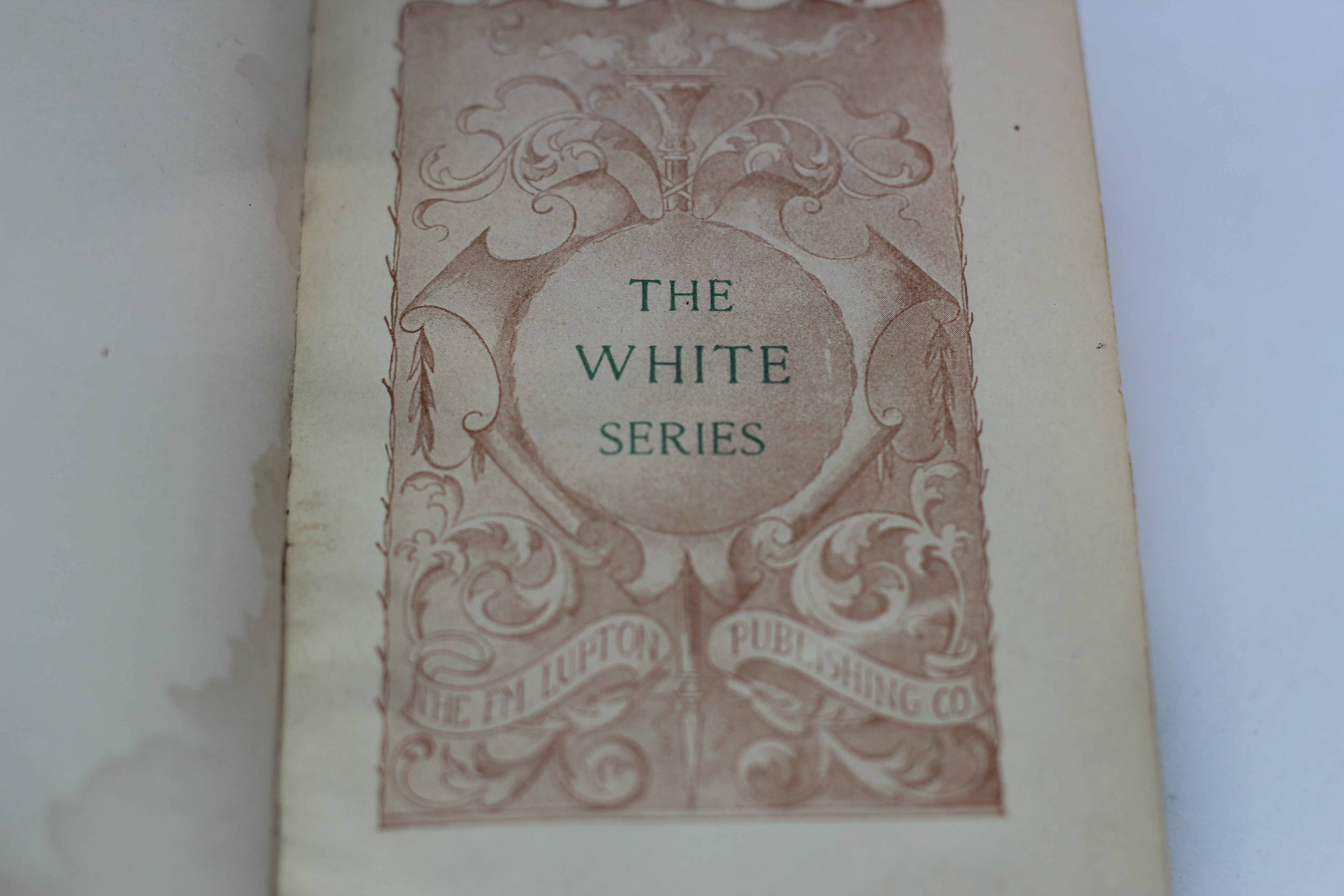 Antique Book, The White Series, Familiar Quotations, Bartlet, 1901, Hardback.